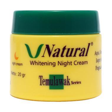 V Natural Temulawak Whitening Night Cream [20 g]