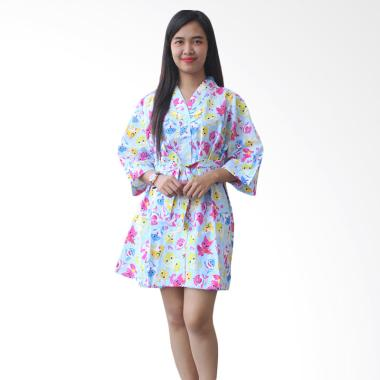 Aily AJ011 Kimono with Belt Motif Shark Setelan Baju Tidur Wanita