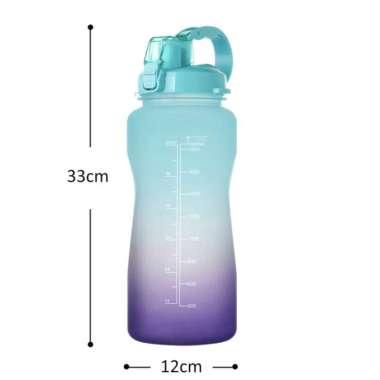 Jual Botol Minum Pastel 2 Liter With Straw - Purple A Blue Multicolor