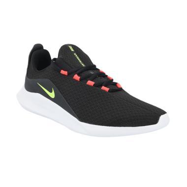 NIKE Men Running Viale Sepatu Lari Pria - Black Red [AA2181-001]