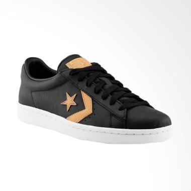 Converse Pro Leather 76 Ox Sneakers Sepatu Pria - Black [155667C]