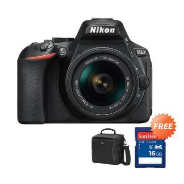 Nikon D5600 Kit 18-55mm VR Kamera D ... epro Format + Memory 16GB