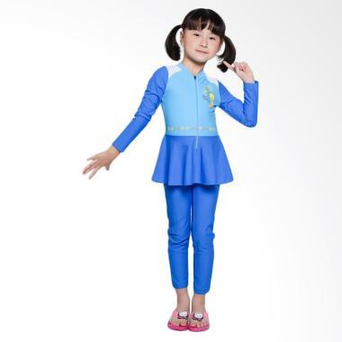OPELON 07.4032.000.16.T1 Terusan Baju Renang Anak - Blue Turqoise