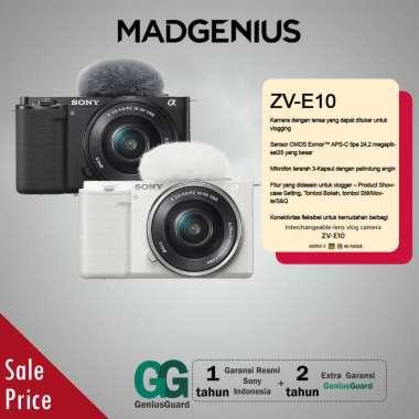 harga SONY Alpha ZV-E10L Mirrorless Digital Kamera [Body Only] / ZV-E10L White Blibli.com