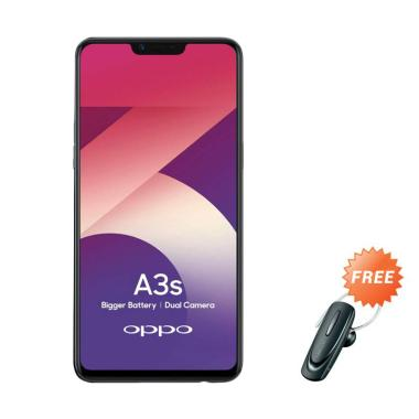 OPPO A3S Smartphone [32 GB/ 3 GB] + Free Headset Bluetooth