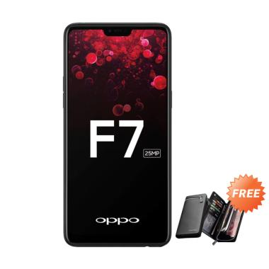 OPPO F7 Smartphone - Black + Free Dompet