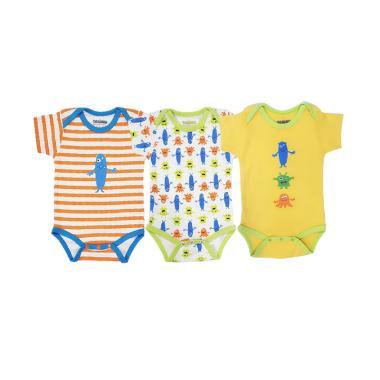 harga Toadies Bodysuits Monster Boy Jumpsuit Anak - Multicolor [3 pcs] Blibli.com