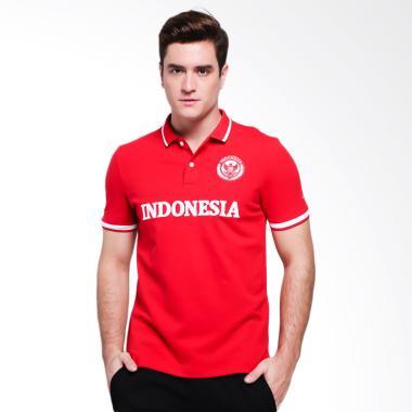 Giordano National Day Man Kaos Polo Pria - Red