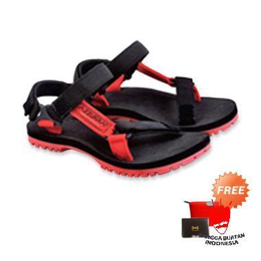 harga Azzurra Sandal Sepatu Pria - Hitam Kombinasi [552-32] + Free Pouch Atau Dompet Kartu Blibli.com