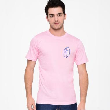LTD Milky T-Shirt Pria - Pink