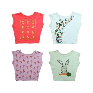 Kazel Tshirt Girl Butterfly Edition Set Atasan Anak [4 Pcs]
