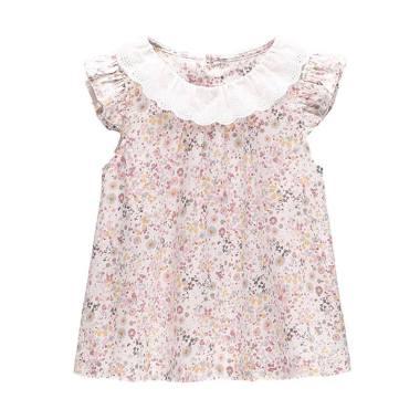 Mom N Bab Short Shirt Small Floral Dress Anak - Pink
