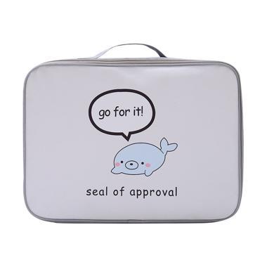 Homestuff Seal Mini Koper Tas Travel Organizer - Krem