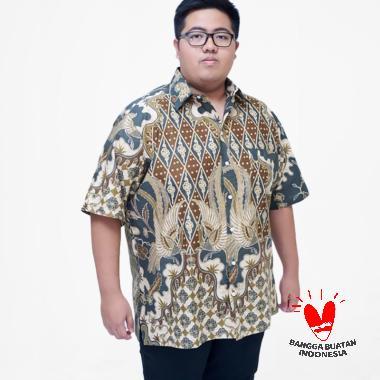 Julien Big Size 16157 Kemeja Batik Lengan Pendek Pria