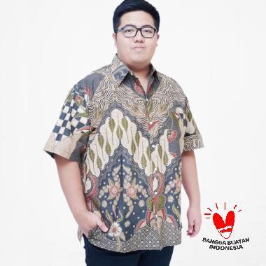 Julien Big Size 16157B Kemeja Batik Lengan Pendek Pria