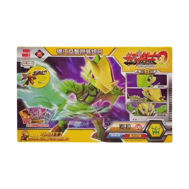 harga Toy Addict 9948A 05 Dragon Warrior Robot Bongkar Pasang 6 Model Kit - Kuning Hijau Blibli.com
