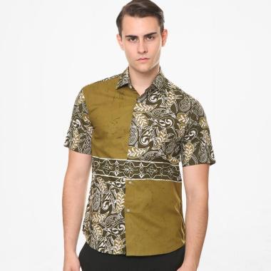 Batik Agrapana Aryasatya Slim Fit Cap Kemeja Batik Pria - Hijau