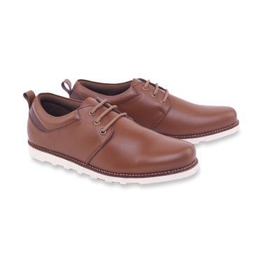 Garsel Kasual Sepatu Sneakers Pria - Coklat [ORG-1650]