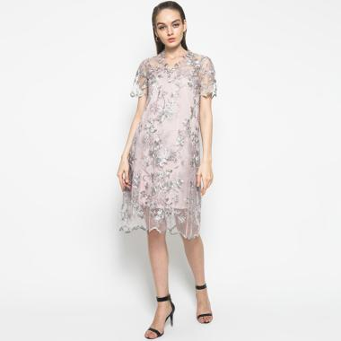 Atelier Mode Isla Brocade A Line Dress Wanita - Lilac 4f726c68f0