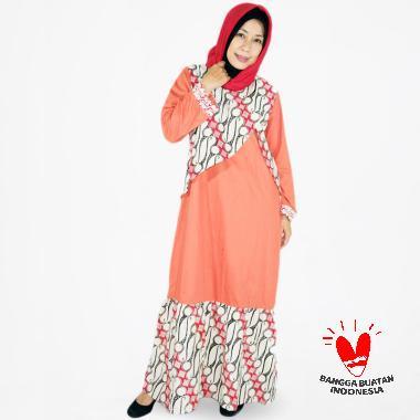 harga Clandestine.id Batik Parang Kombinasi Long Dress Gamis Wanita Blibli.com