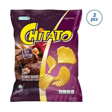 Chitato Sapi Bumbu Bakar Snack [3 pcs/68 g]