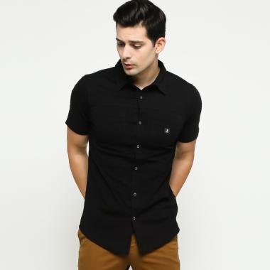 3SECOND Men Shirt Pria - Black [115011911]