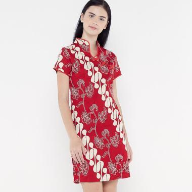 harga FBW Shanghai Imlek Parang Bunga Dress Batik Wanita Blibli.com
