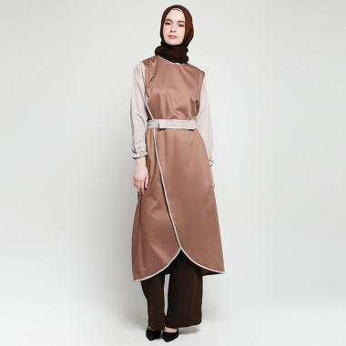 Radwah RPLATCF05 Paola Tunic Muslim Wanita - Coffee