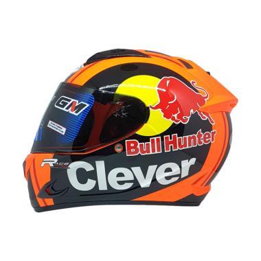 GM Race Pro Clever Bull Dark Visor Helm Full Face c0ea57492fed