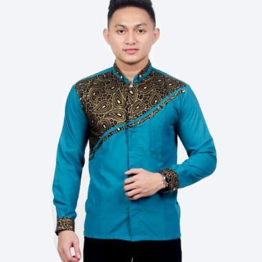 harga Mayung Soul Kemeja Batik  Lengan Panjang Pria - Blue Blibli.com