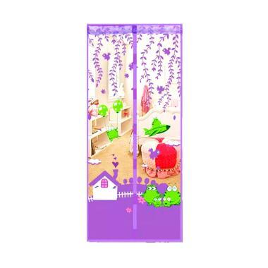 Lucky Bird Karakter Cantik Magnet Tirai Anti Nyamuk - Ungu