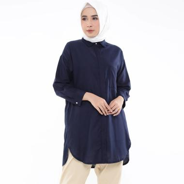 Zahra Signature L/S Oversized Linen Shirt Tunik Muslim Wanita