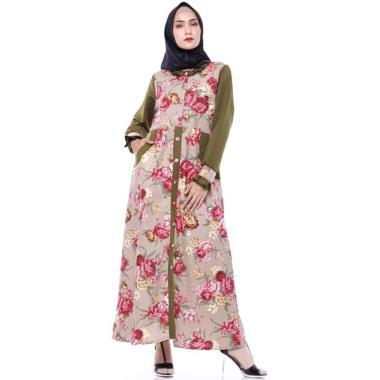 Rania Maxi Syari Gamis Muslim Wanita - Mocca [Original]