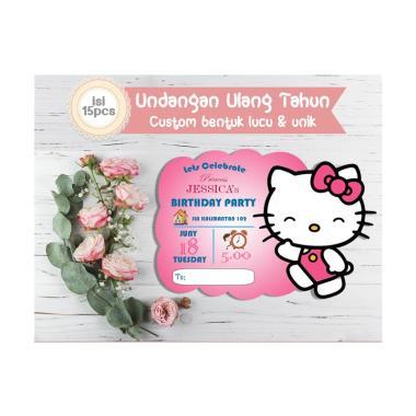 Creative Printing Tema Hello Kitty Undangan Ulang Tahun Anak