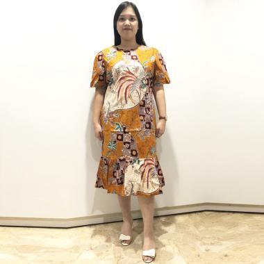 Evercloth Rima Dress Batik Terusan Wanita Size Super Jumbo