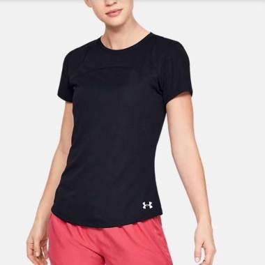 UNDER ARMOUR Women Training Speed Stride Sport Mesh Short Sleeve Tee Baju Olahraga Wanita [1326464-001] L -