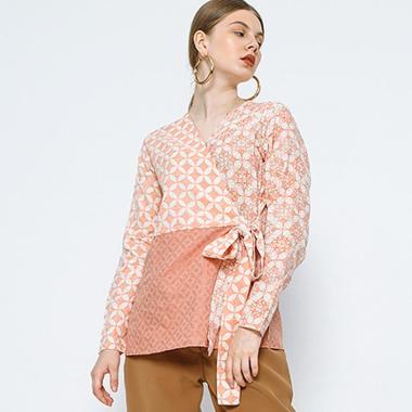 Cottonink Ghyta Atasan Batik Wanita - Pink