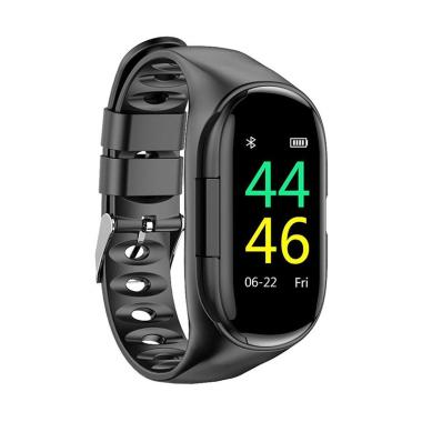 harga Lemfo M1 Smart Watch with Bluetooth Earphone Heart Rate Monitor Smart Wristband Long Time Standby Sport Watch for Men Blibli.com