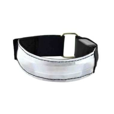 harga Bluelans LED Light Safety Reflective Belt Strap Snap Arm Band Sports Running Armband Blibli.com