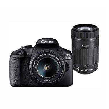 harga Canon EOS 1500D Kit 18-55mm IS II + 55-250mm Kamera DSLR -  Hitam Blibli.com