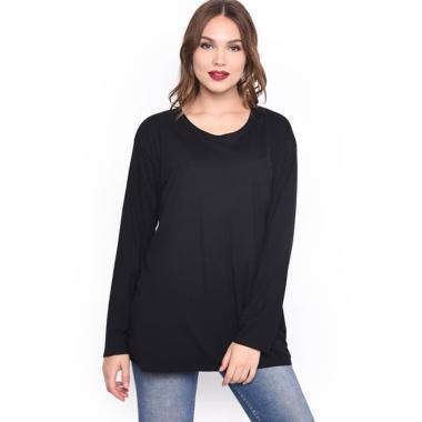 LEMONE T-Shirt Lengan Panjang Wanita - Black