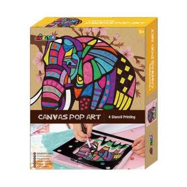 harga Avenir Elephant 1342 Canvas Pop Art Blibli.com