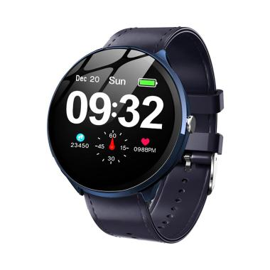 IIT Kospet V12 Waterproof Smartwatch, Heart Rate - Blood Oxygen Monitoring - Breathing Light - Tempered Glass Leather Smart Watch