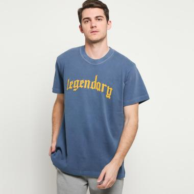 Mitchell & Ness Men Basketball Legendary Tee T-shirt Basket Pria [SSTEEY18029-MNNNAVY319Y] S -