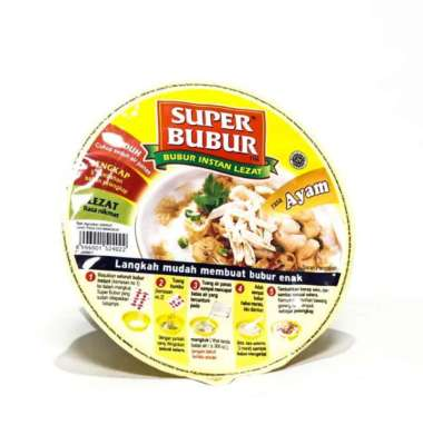 harga SUPER BUBUR Ayam Bubur Instan [51 g/ Cup] Blibli.com