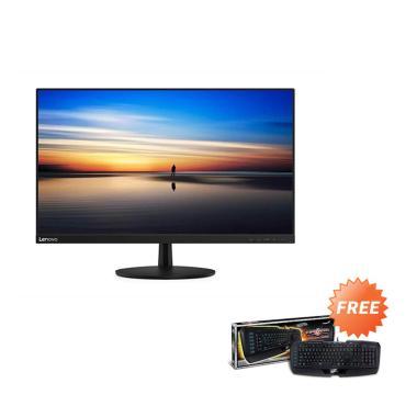 harga Lenovo L27m-28 FHD LED Backlit LCD USB Type-C Monitor [27 Inch] +Free Gaming Keyboard Blibli.com