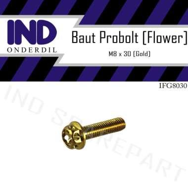 harga IND Onderdil M8x30-8x30-8x30 Drat 12 Baut Probolt Flower Blibli.com