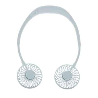 harga USB Portable Mini Fan Headphone Design Neckband for Sports,Traveling &Office Green Blibli.com