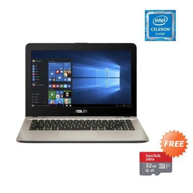Asus X441MA-GA031T Notebook - Black [N4020/ 4GB/ 1TB/ 14 Inch/ Win10 Home] - Free Sandisk Micro SDHC 32GB