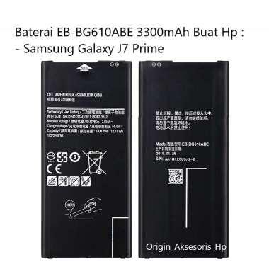 harga Original Baterai EB-BG610ABE Buat Handphone Samsung Galaxy J7 Prime Blibli.com